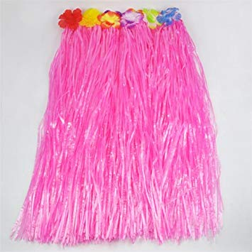 Hawaiian grass skirt pink
