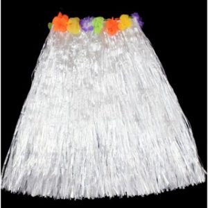 Hula skirt white