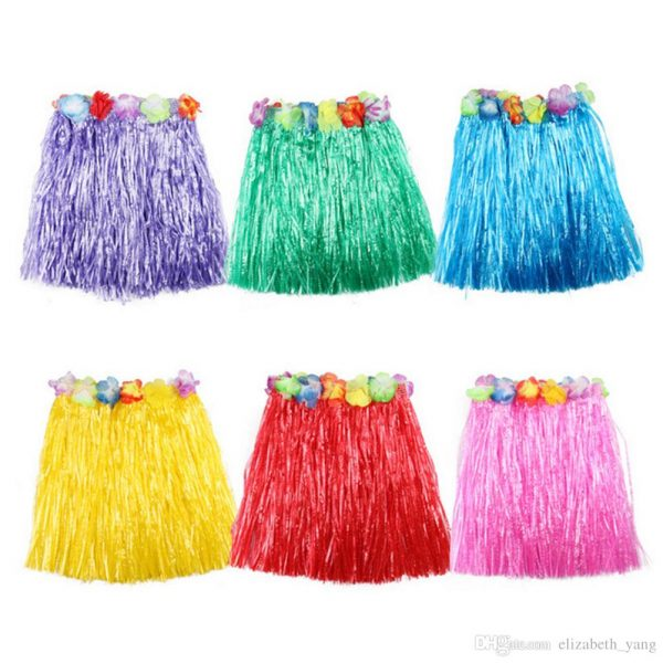 Hula childrens grass skirts