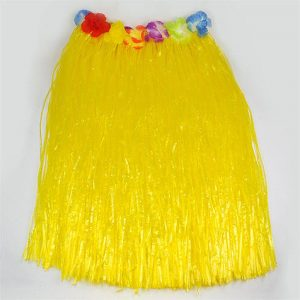Yellow hula grass skirt