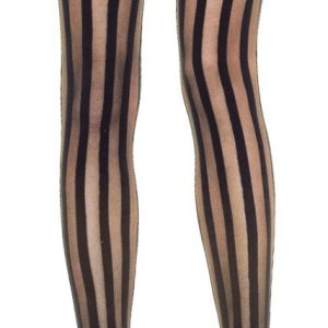 Thigh highs with vertical stripes