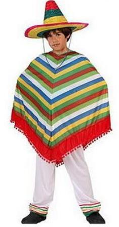 Child size Mexican poncho