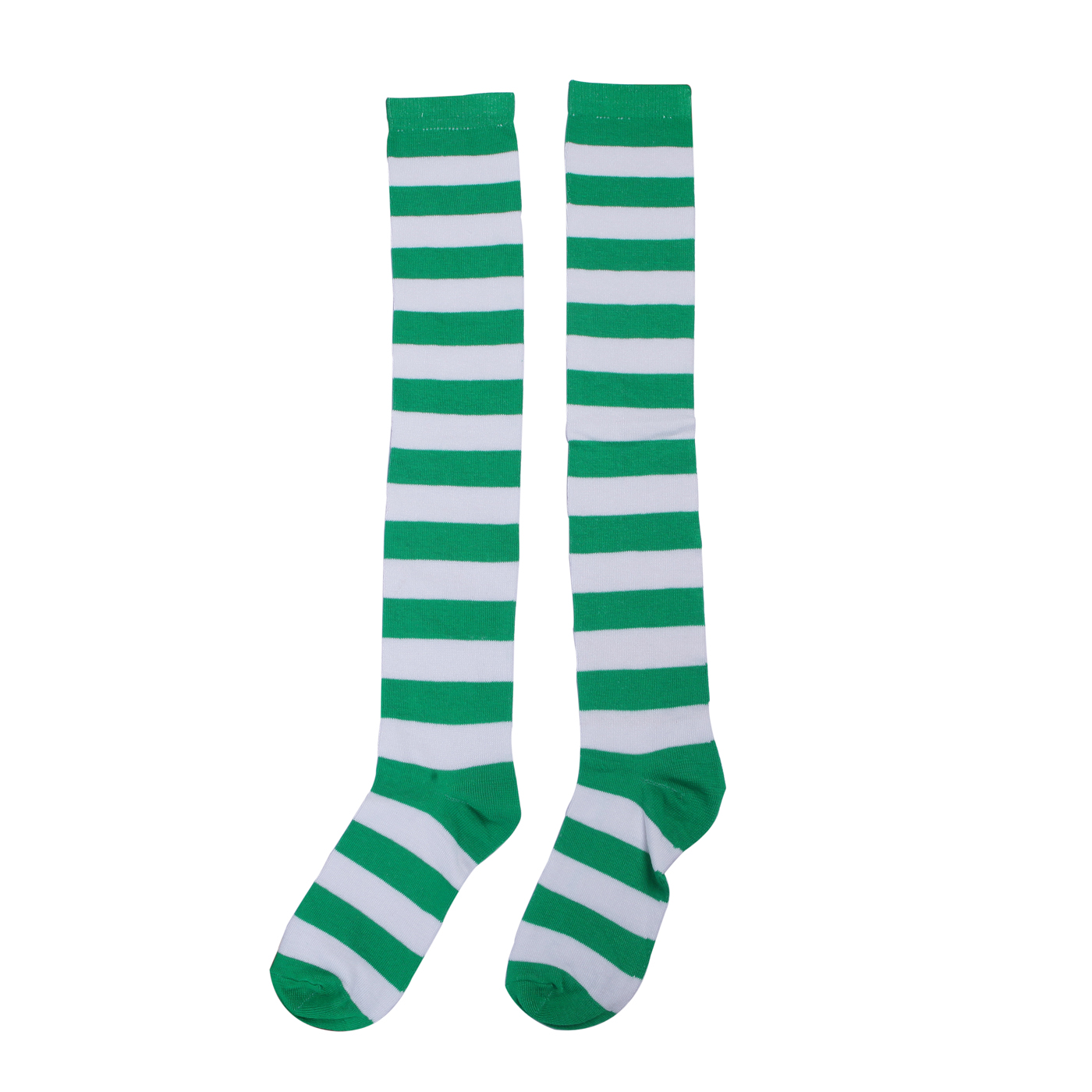 6d4b4d37668 Green   white stripe socks – Code  6927