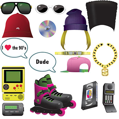 90's Photo booth props