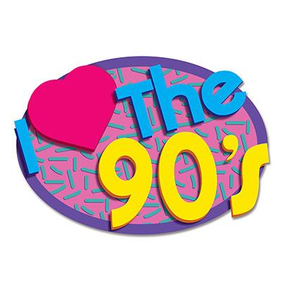 I love the 90's theme decor