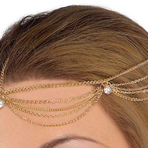 Chain jewelry headdress