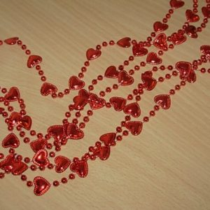 Strings of heart beads