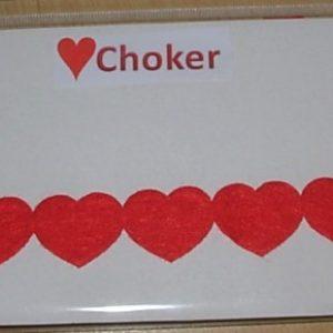 Queen of hearts choker