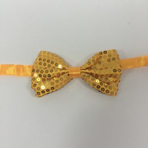 Sequin bowtie adjustable