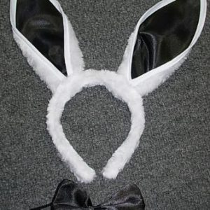 Rabbit ears on headband with bowtie