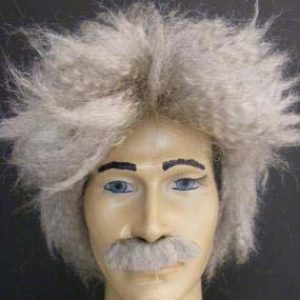 Mad scientist wig & mostache