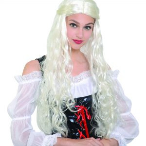 Medieval lady white wig