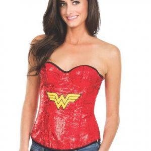 Superhero sequin corset