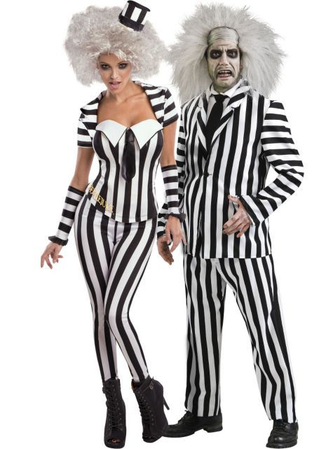 Sassy Beetlejuice And Beetlejuice Couples Costumes Party City Scalliwags Costume Hire