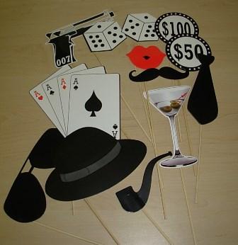 Casino themed photo props
