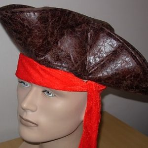 Brown pirate hat side view