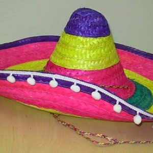 Colourful straw Mexican hat