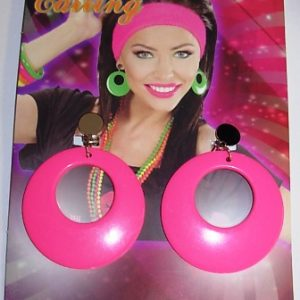 80's neon pink earrings