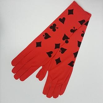 Long casino style gloves