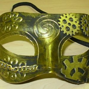 Steampunk mask gold