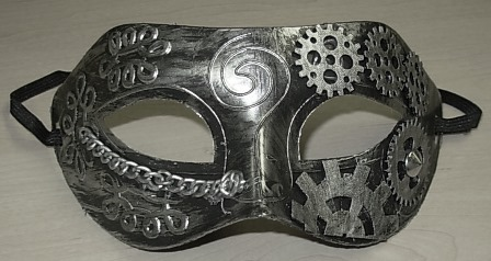 Silver steampunk mask