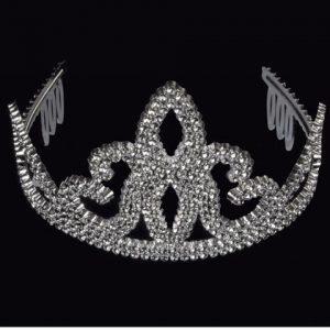 Plain silver tiara