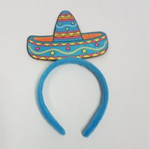 Blue sombrero headband