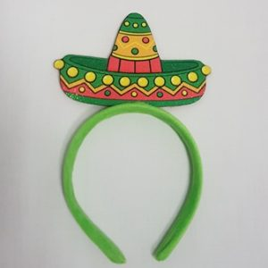 Green sombrero headband