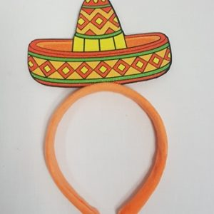 Orange sombrero headband