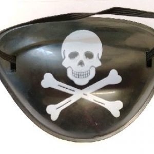 Pirate eye patch with skull