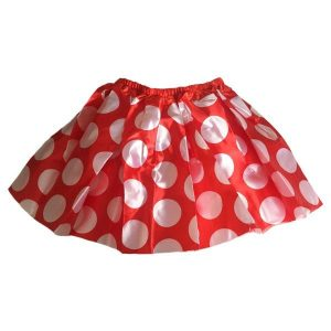 Red polka dot skirt