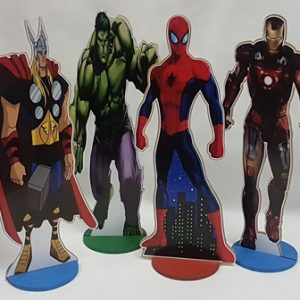 Superhero centerpieces
