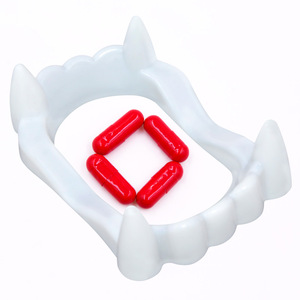 Vampire teeth with blood capsules