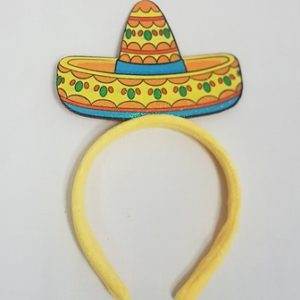 Yellow sombrero headband