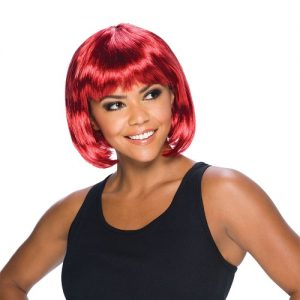 Elegant short red wig