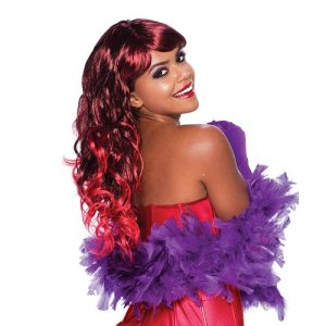 Long red temptress wig