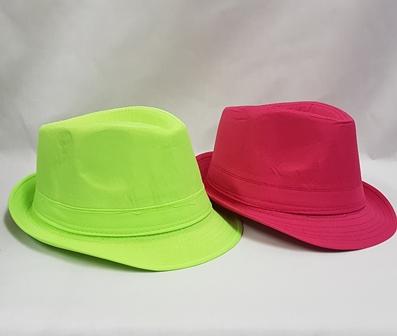 Neon fedora hats