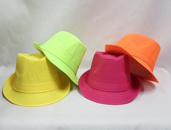 Neon fedors style hats
