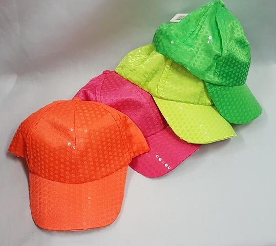 Neon sequin caps