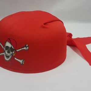 Red pirate bandanna hat