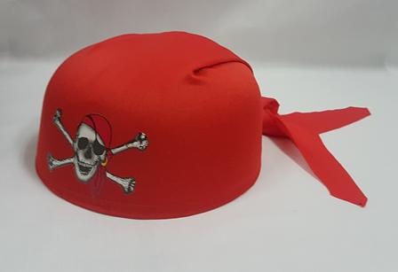 Red pirate bandanna hat