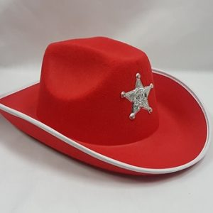 Red sheriff hat
