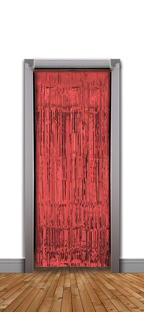 Red tinsel Doorway curtains