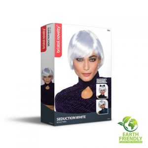 Seduction white wig packaging