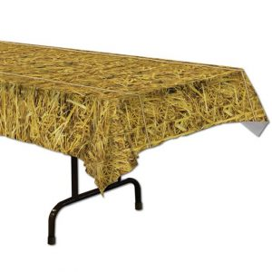 Straw print tablecover