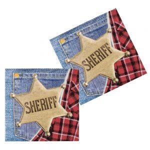 Western sheriff napkins
