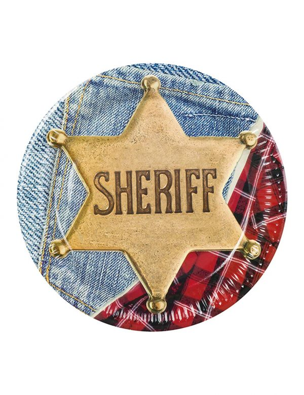 Western shriff paper plates