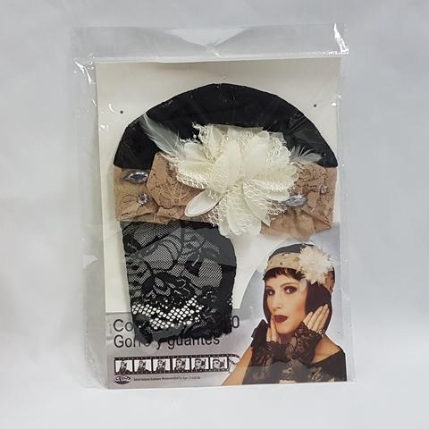 1920's headdress and gloves