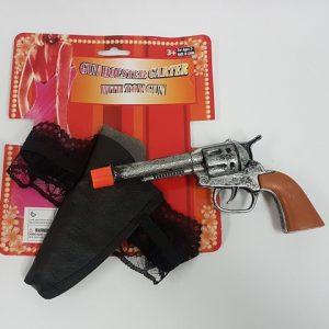 Garter with gun and holster