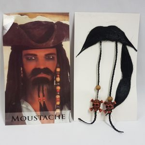 Jack sparrow moustache set